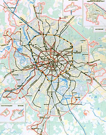 Схема внеуличного транспорта