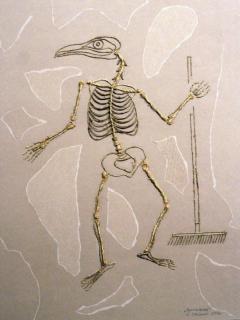 Витас Стасюнас. Из серии «Раскопки в совхозе «Луч». «Крестьянин», картон, пеньковая веревка, 2007
