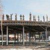 Александр Шишкин-Хокусай. Инсталляция «Смотрящий» на крыше разобранного павильона Шигеру Бана.