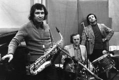 Владимир Чекасин, Владимир Тарасов, Вячеслав Ганелин, середина 1970-х (фото Григорий Талас). Фото с сайта Джаз.ру
